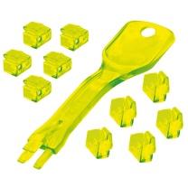 林迪 网线端口锁 40482 (黄色) 1把钥匙+10个锁头
