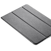 VALK 平板电脑保护壳 ipad9.7壳 苹果平板电脑保护皮套 全包防摔三折支架雨丝纹材质  (DC)