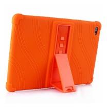 国产 硅胶防摔保护壳带支架外套 (橙色) C5保护套适用华为C5平板电脑10.1英寸