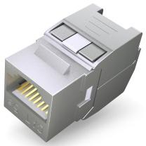 山泽 SAMZHE RJ11信息模块 WPB-015 网络电话 信息模块超五类 六类 工程镀金版 屏蔽 超五类屏蔽免打模块
