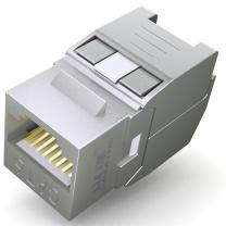 山泽 SAMZHE RJ11信息模块 WPB-016 网络电话 信息模块超五类 六类 工程镀金版 屏蔽 六类屏蔽免打模块