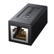 山泽 SAMZHE RJ45信息模块 101BK 网线连接器对接头 网络双通头网络直通头模块网线延长8P8C 黑色