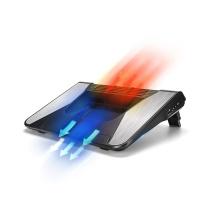 绿巨能(llano)涡轮笔记本散热器铝合金笔记本增高支架可多档调节超静音便携式笔记本电脑散热架LJN-SRQQ2