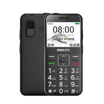 老人手机 飞利浦(PHILIPS)E171L 曜石黑 直板按键 移动联通 老人手机 老年功能机