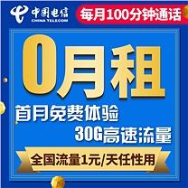 中国电信 China Telecom 上网资费卡 30G全国流量  营业厅实名