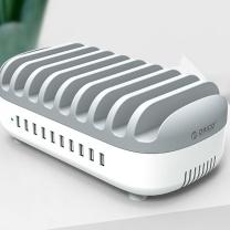 奥睿科 ORICO 手机充电站多口USB充电器 10口充电头带支架智能手机平板通用充电站 支持华为苹果小米
