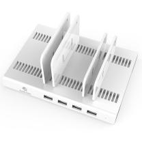 大黄蜂 BUMBLEBEE 多口usb充电站通用手机充电器USB正反插2.4A快速充电自带可调收纳支架 D-2187B