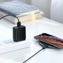 无线充电器 绿联苹果无线充电器套装iphoneXS/R/XsMax手机7.5W快充三星10W充电适用华为小米手机 7.5W/10W双兼容无线快充