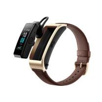 华为 HUAWEI 智能手环 JNS-BX9 B5 蓝牙耳机+智能手环+心率监测+彩屏+触控+压力监测+Android+IOS通用+运动手环) 商务版 摩卡棕