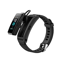 华为 HUAWEI (蓝牙耳机+智能手环+心率监测+彩屏+触控+压力监测+Android+IOS通用+运动手环) B5 运动版 (韵律黑)