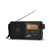 老人收音机 熊猫(PANDA) T-04便携式老人插TF卡MP3数字显示锂电池充电半导体收音机T-01升级款(黑色)