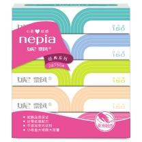 妮飘 nepia 盒装面巾纸双层 BF150*5P  150抽/盒 5盒/提 10提/箱