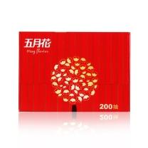 五月花 may flower 盒装面巾纸双层 A19613S/A1961K1 200抽/盒  3盒/提 12提/箱 (喜庆版)