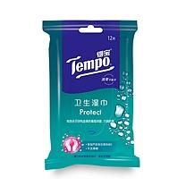 得宝 卫生湿巾 T3002 12片/包 10包/袋 6袋/箱