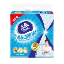 维达 vinda 2层抽取式厨房用纸 V2241 80抽/包  3包/提 12提/箱