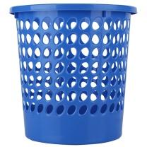 得力 deli 塑料圆形纸篓/垃圾桶 9556 φ24cm 9L (蓝色) 80个/箱