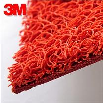 3M 6050拉丝地垫 1.2m*2m (红色) (带压边)