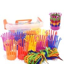 国产 幼儿园玩具/巧手编织花篮/桌面玩具/塑料积木/花篮(DIY玩具)