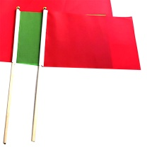 国产 指挥旗 约:30*40cm (红 绿色) 安全信号手挥彩旗