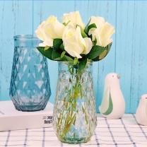 墨斗鱼 玻璃菱形花瓶 2876 (白色)
