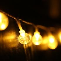 绿之源 小圆球灯串电池款 4米40个 (暖色)