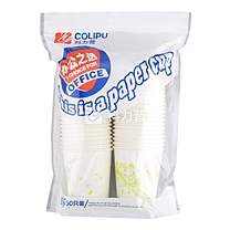 科力普 COLIPU 办公之选 商务彩杯 9盎司 250ml (颜色随机) 50只/包 20包/箱 (加厚型)