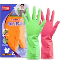 云蕾 乳胶手套橡胶手套强力胶耐用型 13930  2双/袋