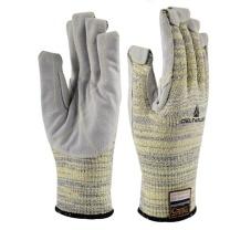 代尔塔 DEITAPLUS 牛皮加强掌面防割耐高温手套 202012 (灰色)
