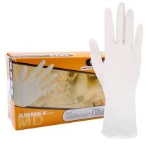 爱马斯 AMMEX 检查手套 TLFCVMD44100 M  100只/盒 (经济型,无粉,麻面,乳胶)
