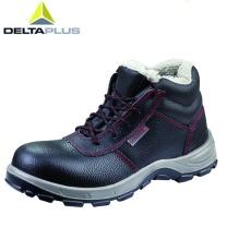 代尔塔 DEITAPLUS 高帮加绒 防滑耐磨安全鞋 绝缘鞋 301105 43码