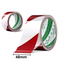 北极熊 polar bear 红白警示胶带 地面划线 斑马胶带 WA-044R 48mm*20y  (20Y=18.3m)