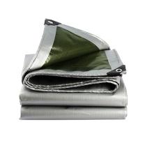 安赛瑞 订制加厚防雨布 12444 PE聚乙烯 厚0.35mm 重180g/m² (银白)