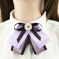 国产 紫百合蝴蝶花领结