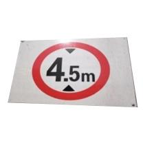安赛瑞 限高标示牌 限高3.5m 300*400mm,红圆圈的直径是200mm;铝板UV,厚度1mm  (鞍钢链接)