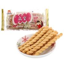 众望 麻花 (芝麻甜味) 312g/袋  20袋/箱