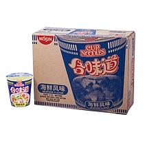 日清 NISSIN 合味道 速食面 84g/桶  12杯/箱 海鲜风味