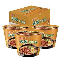 统一 Uni-President 来一桶 香辣牛肉面 107g/桶 12桶/箱 (华西区为麻辣口味)