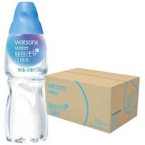 屈臣氏 watsons 蒸馏饮用水矿物质水 400ml*24瓶/箱 (蓝色)
