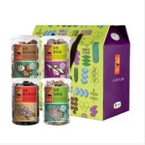 悠采 有机山珍礼盒 350g 冬菇、香信菇、黑木耳、灰树花