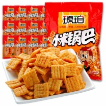 琥珀 锅巴小米锅巴麻辣味 25g/包,20包/袋  25袋/箱 (游族链接)