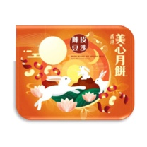 美心 陈皮豆沙月饼 318型 70g*6  (2019年)