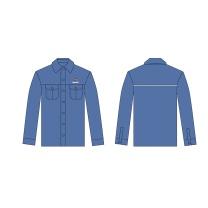 国产 定制牛仔衬衫长袖 40/2*21精梳全棉 160-190 (蓝色) 国电投链接