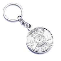 国产 创意中英文万年历钥匙扣  金属定制