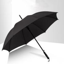 蓝雨 雨伞 22英寸 16骨加固的烤漆伞架 素黑直柄