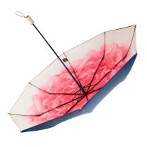 蕉下 BANANAUNDER太阳伞防紫外线折叠伞晴雨两用三折双层小黑伞 洛荷  (DZ)起订量100