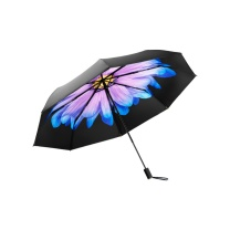 蕉下 BANANAUNDER太阳伞防紫外线折叠伞晴雨两用三折双层小黑伞 琉璃  (DZ)起订量100