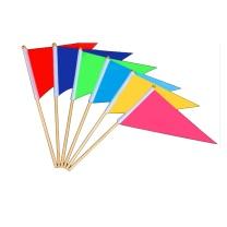 国产 彩旗 约:14*21cm (彩色) 木质小彩旗手持旗 旗帜交通指挥旗