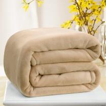 九洲鹿 法兰绒毛毯 150*200cm (米驼) (南网链接)