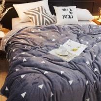 南极人 法兰绒毯子 办公室午睡盖毯盖被 珊瑚绒空调毯毛毯被 灰 150*200cm