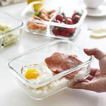 青苹果 GREEN APPLE 玻璃保鲜盒耐热饭盒冰箱收纳盒 1020ml